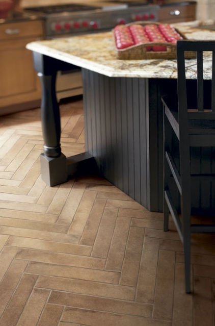 New Wood Look Porcelains make a great addition to any Kitchen!