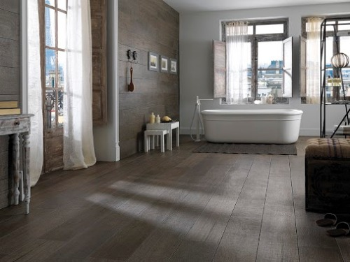 wood look large format tiles